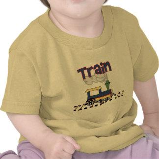 Tren en las camisetas y los regalos de la pista