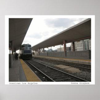 Tren en Los Ángeles céntrico Impresiones
