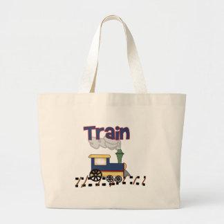 Tren en pista bolsa de mano