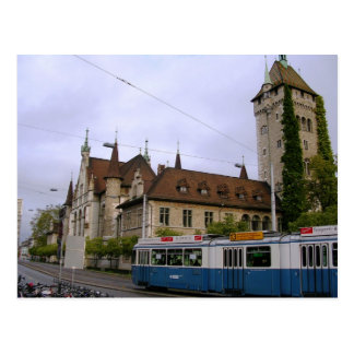 Tren en Suiza Tarjeta Postal