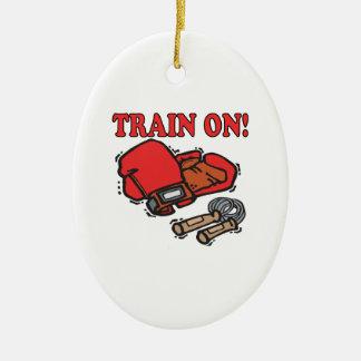 Tren encendido adorno de navidad