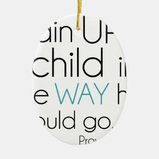Tren encima de un niño… adorno navideño ovalado de cerámica
