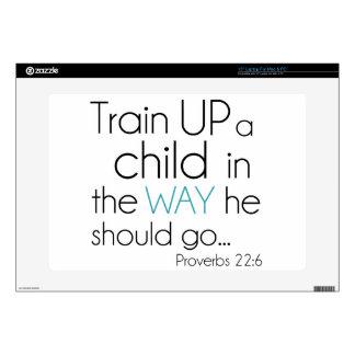 Tren encima de un niño… calcomanías para 38,1cm portátiles