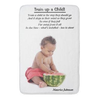 ¡Tren encima de un niño! - Estera de baño grande