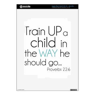 Tren encima de un niño… iPad 3 pegatina skin