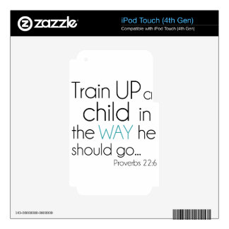 Tren encima de un niño… iPod touch 4G skin