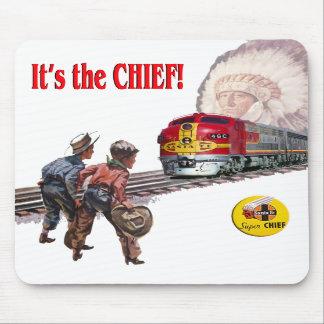 Tren estupendo Mousepad de Santa Fe principal