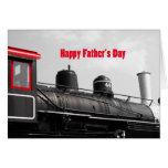 Tren feliz del día de padre tarjeta