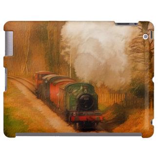 Tren ferroviario del vapor para el arte de funda para iPad