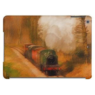 Tren ferroviario del vapor para el arte de funda para iPad air
