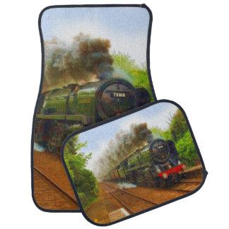 Tren ferroviario del vapor para las alfombrillas alfombrilla de auto