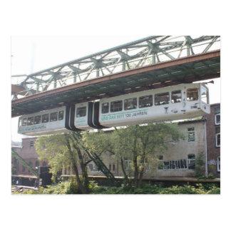 Tren flotante blanco Schwebebahn Vorwerk de Postales