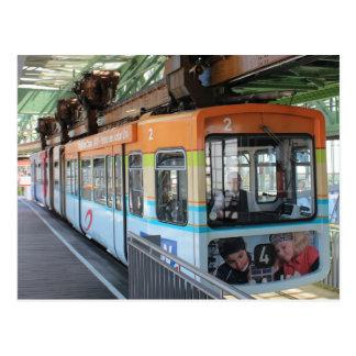 Tren flotante de Wuppertal/Wuppertaler Schwebebahn Postal