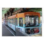 Tren flotante de Wuppertal/Wuppertaler Schwebebahn Tarjetón