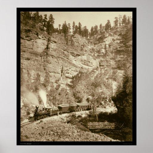 Tren gigante Black Hills SD 1890 del pen¢asco Póster