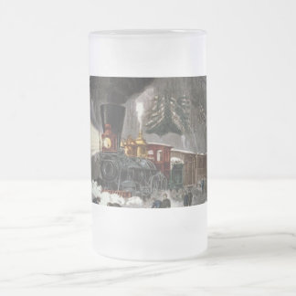 Tren helado Stein del vintage Taza Cristal Mate