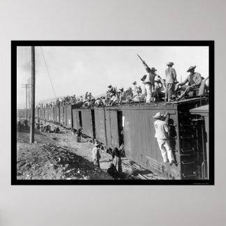 Tren indio 1892 del RR de los combatientes de Yaqu Posters