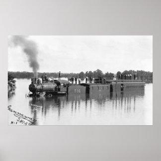 Tren inundado, 1904 póster