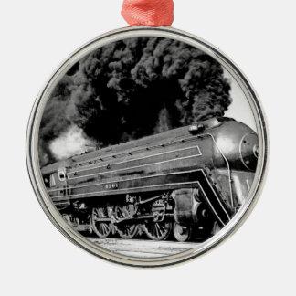 ¡Tren limitado del siglo XX Highball él! Vintage Adorno Navideño Redondo De Metal