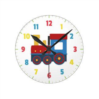 Tren lindo y colorido para el dormitorio de los mu relojes