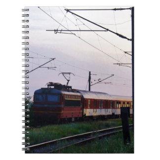 Tren local en Bulgaria Libro De Apuntes Con Espiral