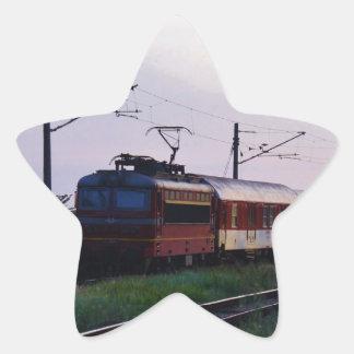 Tren local en Bulgaria Pegatina En Forma De Estrella