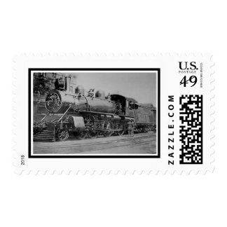 Tren locomotor del motor de vapor del vintage estampillas