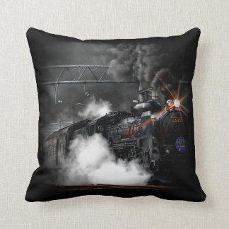 Tren locomotor del negro del motor de vapor del almohadas