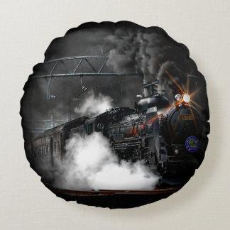 Tren locomotor del negro del motor de vapor del cojín redondo
