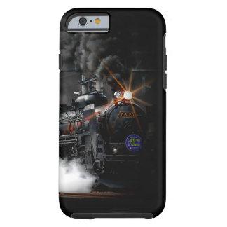 Tren locomotor del negro del motor de vapor del funda de iPhone 6 tough