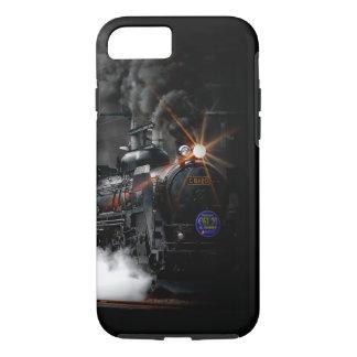 Tren locomotor del negro del motor de vapor del funda iPhone 7