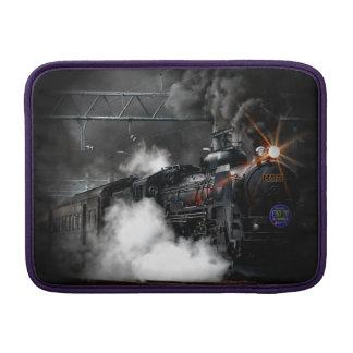 Tren locomotor del negro del motor de vapor del funda macbook air