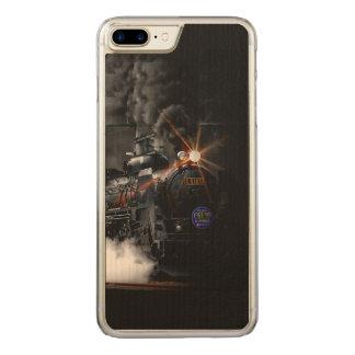 Tren locomotor del negro del motor de vapor del funda para iPhone 7