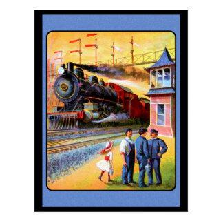 Tren locomotor del vapor tarjetas postales