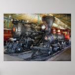 Tren - locomotoras de vapor impresiones