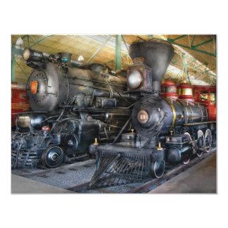 """Tren - locomotoras de vapor invitación 4.25"""" x 5.5"""""""
