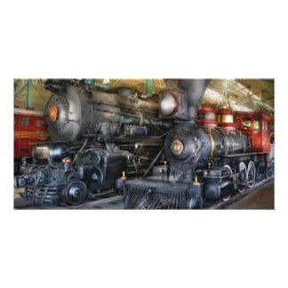 Tren - locomotoras de vapor tarjeta personal