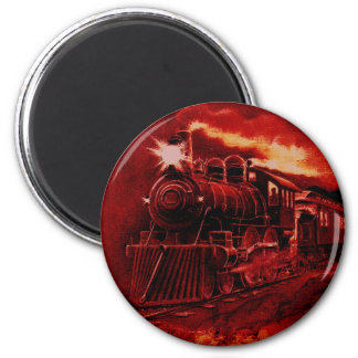 Tren mágico del Victorian del motor de vapor Iman De Nevera