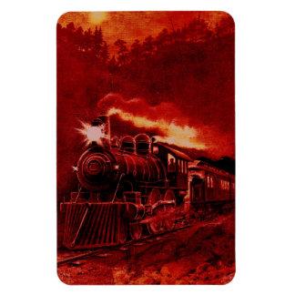 Tren mágico del Victorian del motor de vapor Imanes Rectangulares