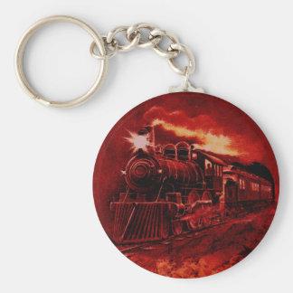 Tren mágico del Victorian del motor de vapor Llavero Personalizado