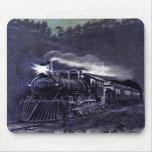 Tren mágico del Victorian del motor de vapor Tapetes De Ratones