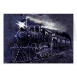 Tren mágico del Victorian del motor de vapor Tarjeta