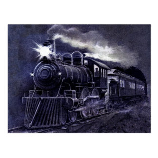 Tren mágico del Victorian del motor de vapor Tarjeta Postal