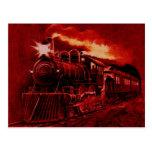 Tren mágico del Victorian del motor de vapor Postal