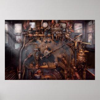 Tren - motor - caliente debajo del cuello póster