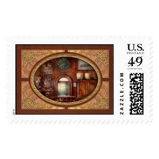 Tren - oficina - la ventana de los tomadores de sello