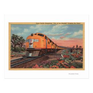 Tren pacífico de la unión, ciudad de L.A. Postal