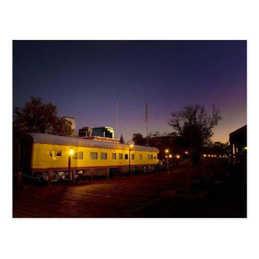 Tren pacífico de la unión en Sacramento vieja Postal