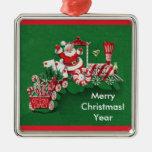 Tren pasado de moda del caramelo de Santa Ornamentos Para Reyes Magos