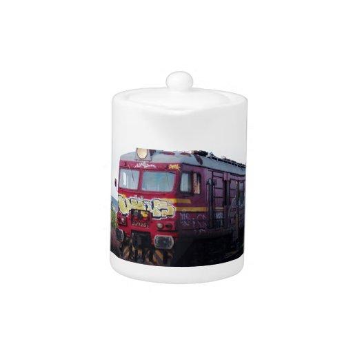 Tren pintado pintada